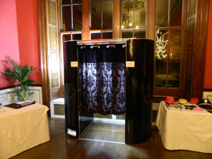 Our photo booth with black surround. Carylon Bay Hotel photo booth hire