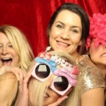 4 friends enjoying the birthday party celebrations in our photo booth